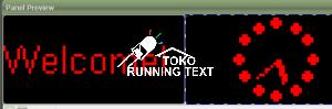Runningtext palembang