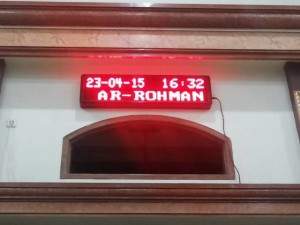 LED Display jadwal sholat merah masjid AR-ROHMAN malang