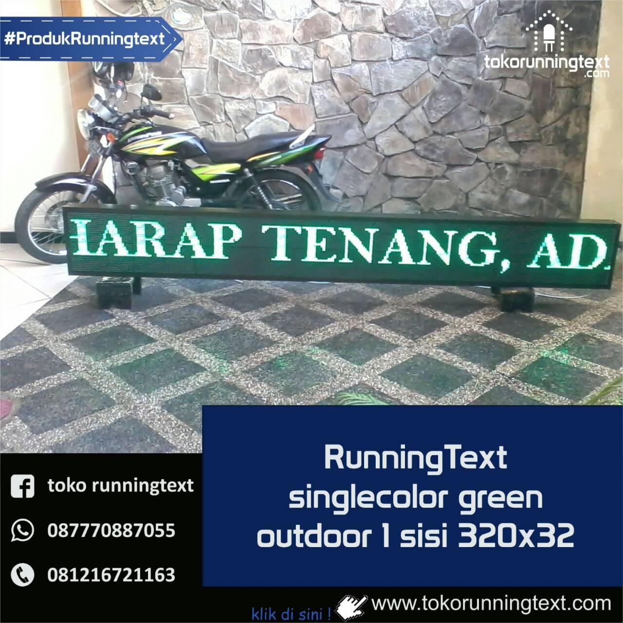Runningtext singlecolor Green