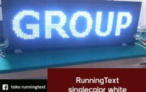 Runningtext singlecolor White outdoor 1 sisi 96x32
