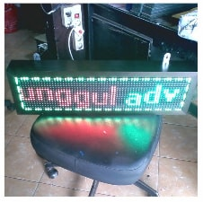 Running Text Dual Color RED GREEN YELLOW Outdoor 1 Sisi 32x16