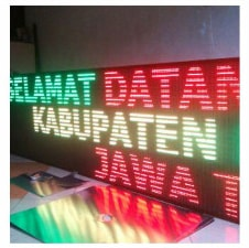 Running Text Dual Color RED GREEN YELLOW Outdoor 1 Sisi 6Mx1M A