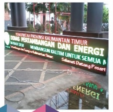 Running Text Dual Color RED GREEN YELLOW Outdoor 1 Sisi 6Mx1M B