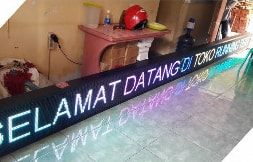 Running Text FULL COLOR 7Color Semi Outdoor 1 Sisi 288x32