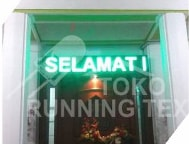 Running Text Single Color GREEN Semi Outdoor 1 Sisi 256x48