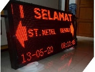 Running Text Single Color Red Outdoor 1 Sisi 160x80