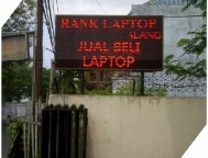 Running Text Single Color Red Outdoor 1 Sisi 192x96