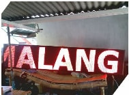 Running Text Single Color Red Outdoor 1 Sisi 384x48