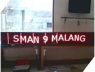 Running Text Single Color Red Semi Outdoor 1 Sisi 256x32