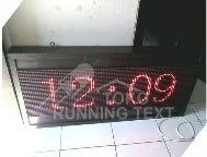 Running Text Single Color Red Semi Outdoor 1 Sisi 96x32 A